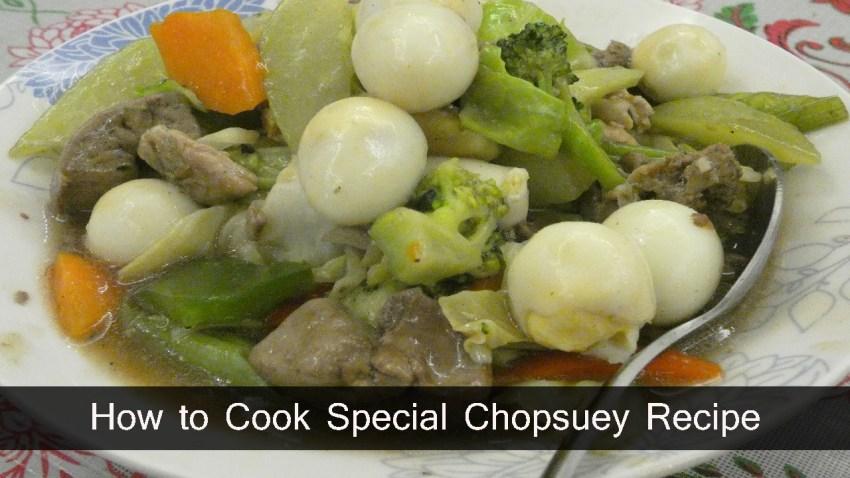 Special Chopsuey Recipe Filipino Recipes Guide